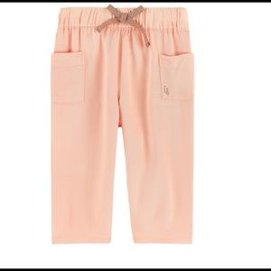 Other - Girl's Peach Twill pants by Carrement Beau. France